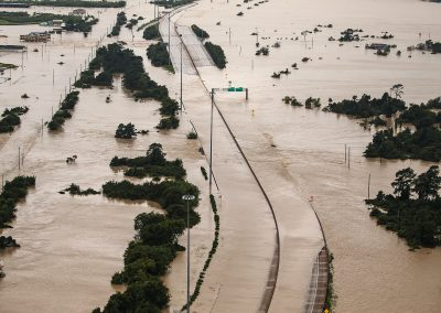 texas-flooding Highway covered