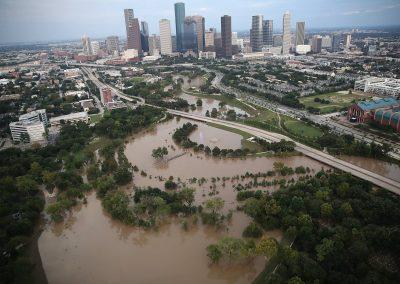 Houston Flooding Arial View