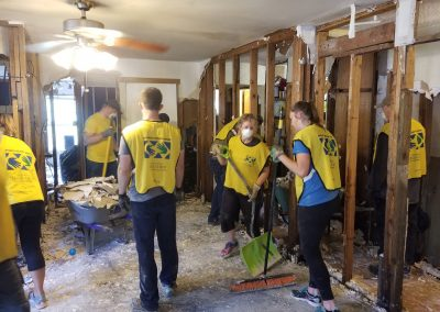 Mucking out houses in Yellow